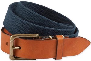 Bills Khakis Leather Tipped Canvas Men's Belt: US$65.