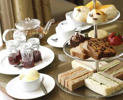 Afternoon Tea at The Bingham, 61-63 Petersham Road, Richmond Upon Thames, Surrey TW10 6UT, England, U.K.