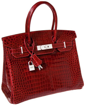 Hermès Crocodile Birkin with White Gold & Diamond Hardware: US$203,150.