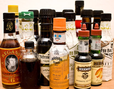 Selection of bitters.