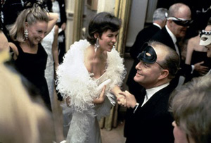 Truman Capote at his Masked Black and White Ball at NYC's Plaza Hotel in 1966.
