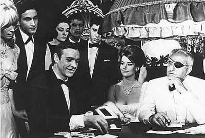 Baccarat, chemin-de-fer, is the favoured game of Ian Fleming's secret agent creation, James Bond.
