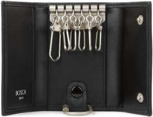 Bosca 6 hook tri-fold key case is a must have in super-soft Nappa leather: US$65.