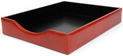 Bosca classic old leather letter tray without lid: US$165.
