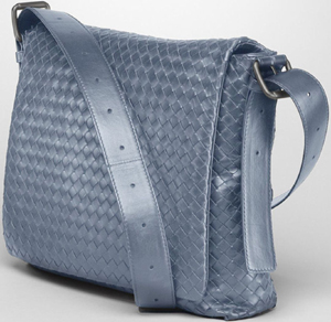 Bottega Veneta Krim Intrecciato Light Calf Cross Body Messenger Bag: US$2,850.