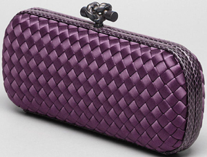 Bottega Veneta Corot Intreccio Impero Ayers Stretch Knot Clutch Handbag: US$1,650.