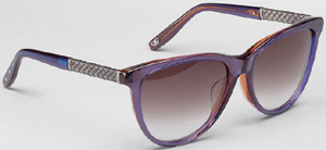 Bottega Veneta Purple Mauve Shaded Acetate women's sunglasses: US$485.