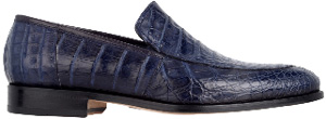 Roberto Botticelli Men's Moccasin in Crocodile Blu and Leather Bottom Shoe: €2,125.