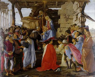 Adoration of the Magi (1475) by Sandro Botticelli.