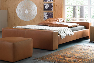 Möller Design Brian leather bed.