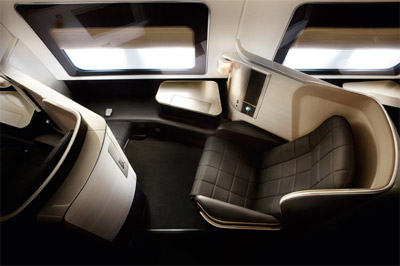 British Airways First Suite - 'On-board elegance'.