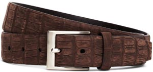 Brooks Brothers Sueded Crocodile Leather Belt: US$698.