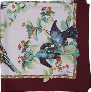 Brooks Brothers Audubon Dove Silk Women's Scarf: US$248.