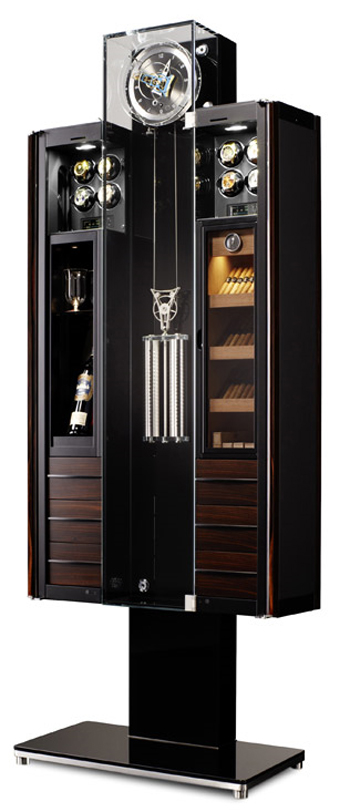 Buben & Zörweg's Oridt Tourbillon (part clock, part humidor, part wine storage, and more) Limited edition: 75 pieces.