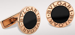 Bvlgari Cufflinks in 18kt Gold with Black Onyx: US$2,600.