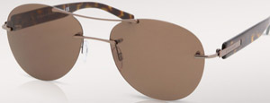 Bvlgari aqva metal sunglasses with havana frame and brown lenses: US$390.