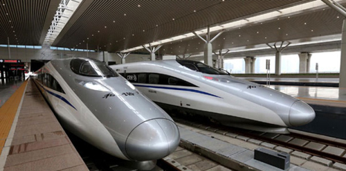 Beijing–Guangzhou–Shenzhen–Hong Kong High-Speed Bullet Trains.