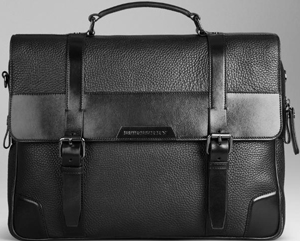 Burberry London Leather Briefcase: US$1,795.