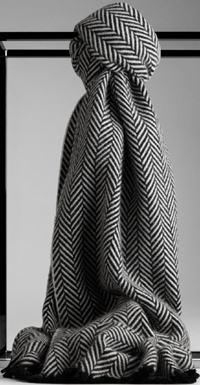 Burberry Herringbone Cashmere Men's Scarf: US$575.