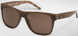 Burberry Men's Check Detail Square Frame Sunglasses: US$190.