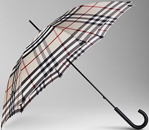Burberry Check Walking Men's Umbrella: US$295.