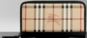 Burberry Haymarket Check Ziparound Wallet: US$450.