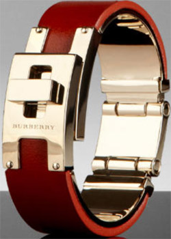 Burberry Women's Leather Cuff Bracelet: US$450.