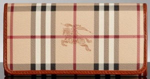 Burberry Haymarket Check Coated Canvas Continental Wallet: US$450.