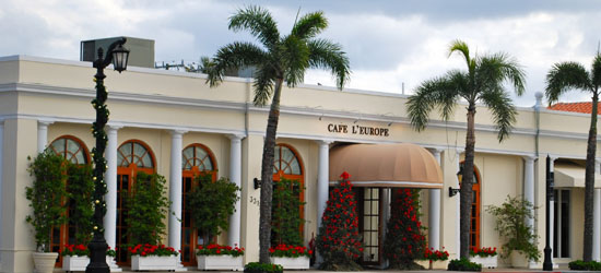 Café L'Europe, 331 South County Road, Palm Beach, FL 33480.