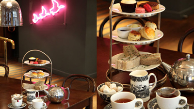 Afternoon Tea at Café Liberty, Regent Street, London W1B 5AH, England, U.K.