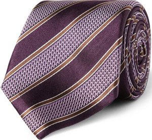 Canali striped silk tie: €95.