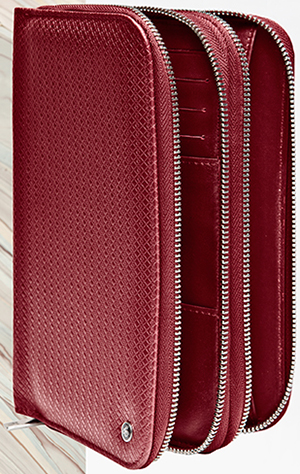 Canali double-zip travel wallet.