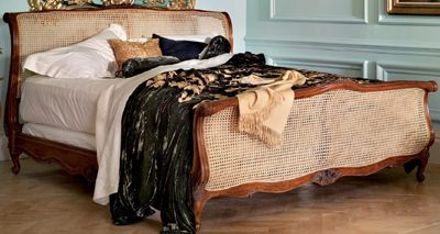 And So To Bed Louis XV Rococo Caned Bed: £3,475.00.