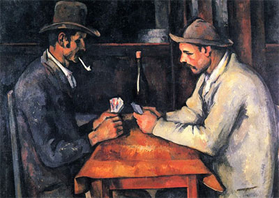 The Card Players (1892) by Paul Cézanne.
