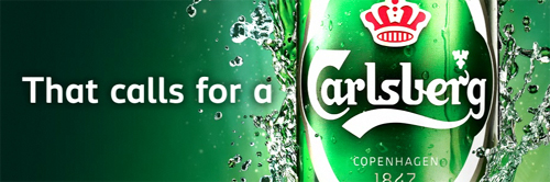 Carlsberg's newest beer.