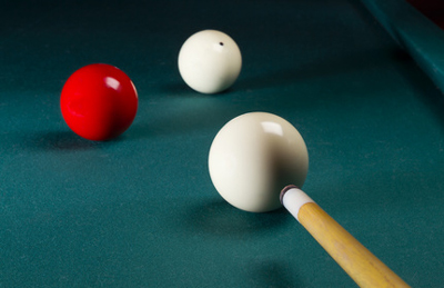 Carambole billiards.