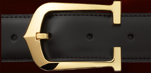Cartier Elongated C Decor Buckle Belt, Reversible Strap: US$590.
