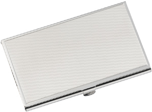 cartier stainless steel business card holder with milleraies decor - Metal Business Card Case