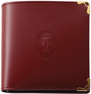 Must de Cartier men's banknote/coin/credit card holder.