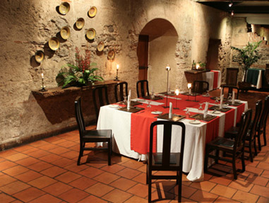 The Restaurant at Hotel Casa Santo Domingo.
