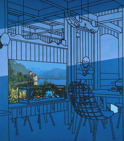 After Lunch (1975) by Patrick Caulfield.