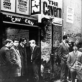 The original Cavern Club entrance in 1963, 10 Mathew St, Liverpool, Merseyside L2 6RE.
