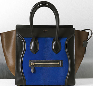 Céline Pony Royal Blue Handbag.
