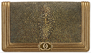 Chanel women's Galuchat Boy Wallet.