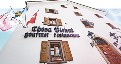 Burmanns Chesa Pirani, Via Chantunela 15-19, La Punt bei St. Moritz.