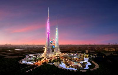 World's tallest pair of towers slated for Wuhan, China.
