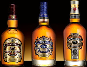Chivas Regal 12-18-25 Years Old.