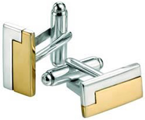 Choice Sterling Silver Gold Plated Rectangle Cufflinks: £89.99.