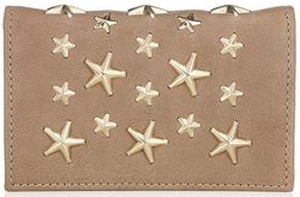 Jimmy Choo Buff Leather Card Holder with Gold Stars: €225.