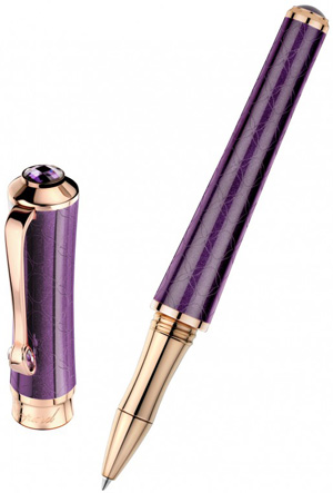 Chopard Imperiale Rollerball purple resin - rose gold plated: US$900.